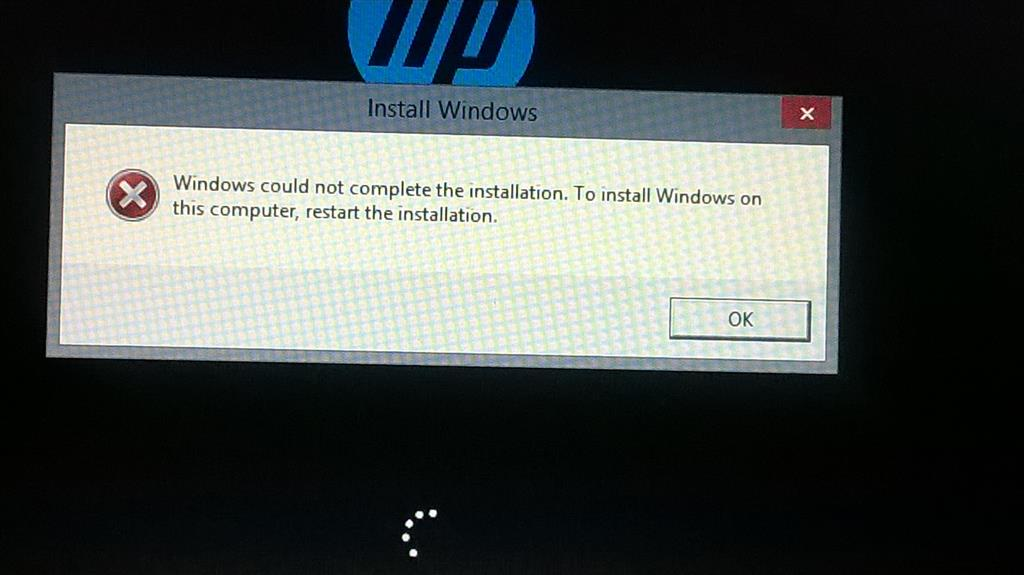 Windows could not complete the installation after update ...