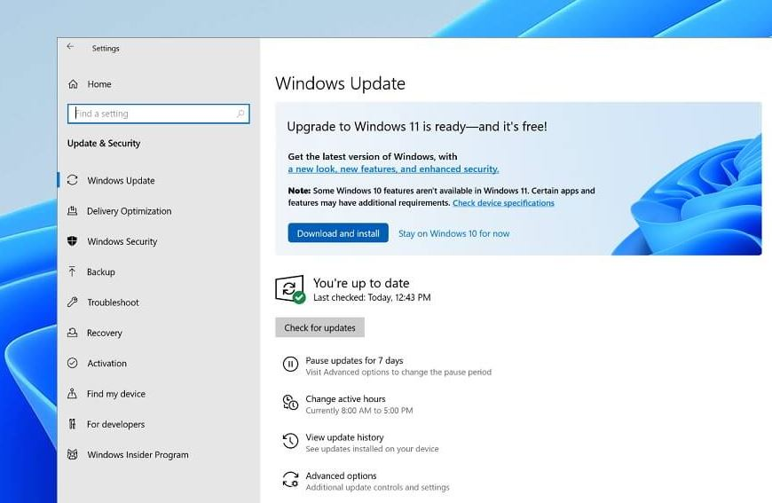 Download and install windows 11